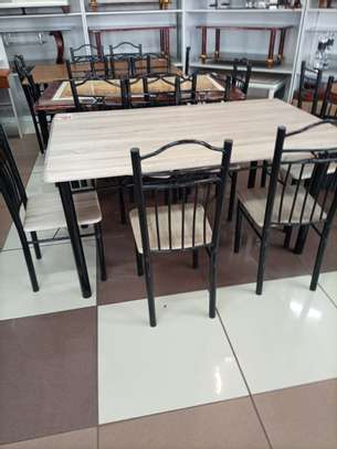 Wooden dining set image 1