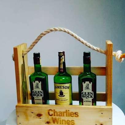 Personalized wine rack image 1