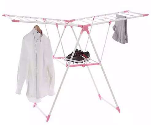 Foldable outdoor cloth rack image 2