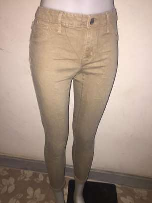 Ladies Beige Jeans