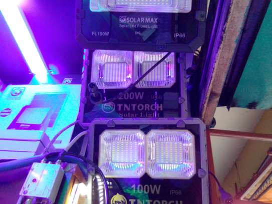 100w Solar security lights complete image 1