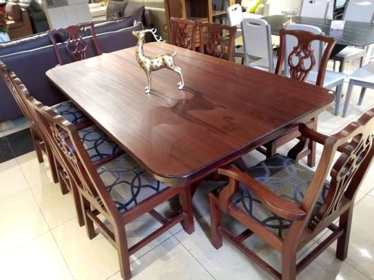 8Seater Wooden Dining table image 1