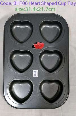 Heart shaped cup tray image 1