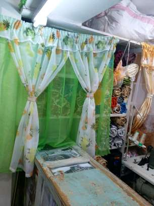 kitchen curtain 200cm width by 120cm height image 3