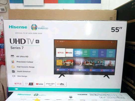 55 inch Hisense Smart UHD 4K television 2020 model image 1