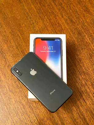 Apple IPhone x black with iwatch.  256 gb image 1