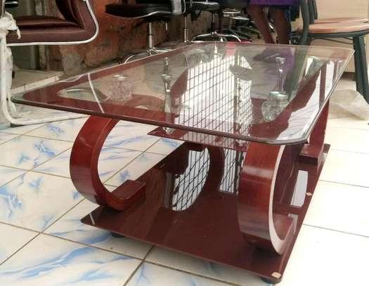 Glass coffee table image 2