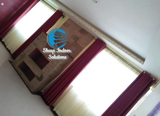 maroon linen curtains image 1