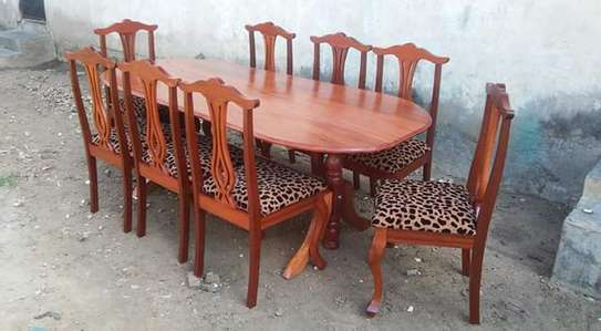 dining set of six and eight chairs image 2