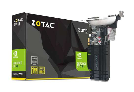 ZOTAC GeForce GT 710 2GB DDR3 PCIE x 1 , DVI, HDMI, VGA image 1