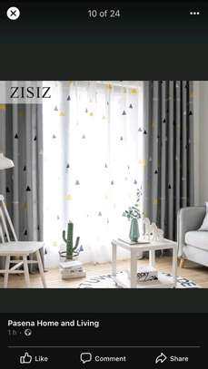 HEAVY GREY THEME QUALITY  FABRIC CURTAINS image 1