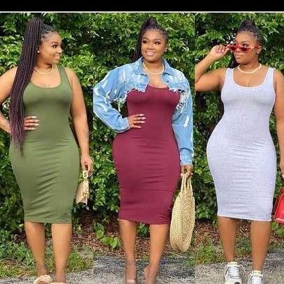 Short sleeveless dress image 1