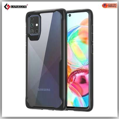 IPAKY Hybrid Shockproof Transparent Case for Samsung A71 A51 A31 image 3