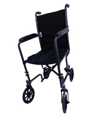 Lightweight folding travel wheelchair image 2