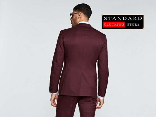 Maroon (bargundy) 2 piece and 3 piece suits image 3