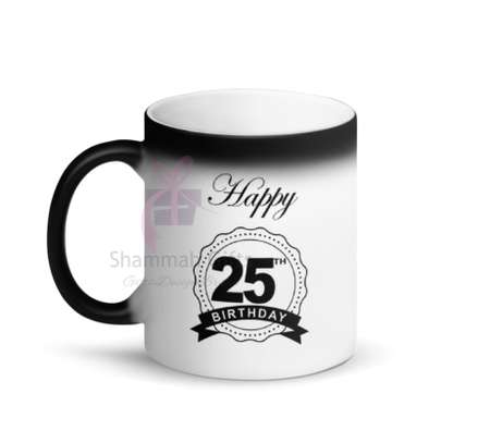 Colour changing mug printed with personalized design image 1