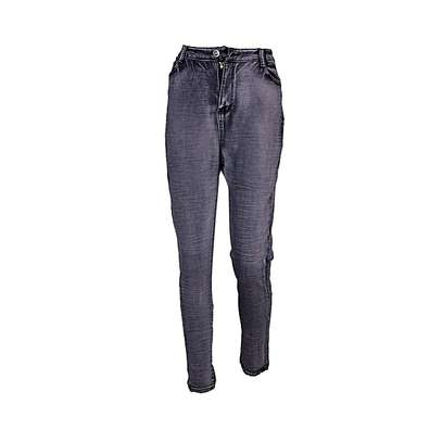Lady's Fashionable Grey Jeans image 1