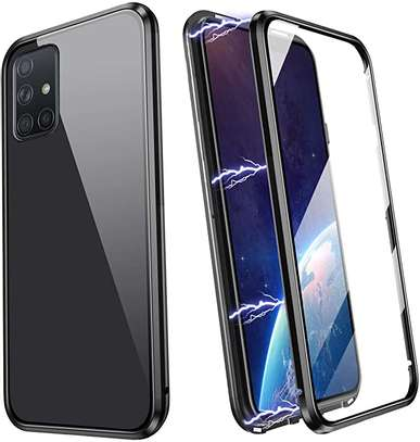 Magnetic Double-sided 360 Full Protection Glass Case for Samsung A71  A51 image 2