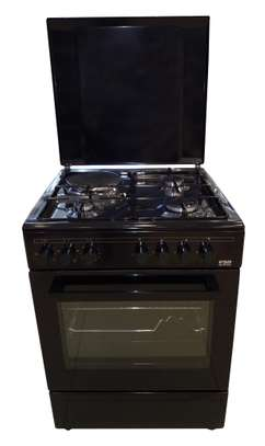 VON 7312NEB Cooker 3 Gas +1 Electric 60CM - Black image 1