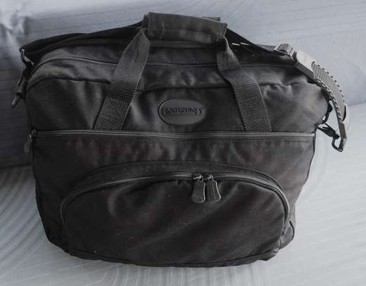 USA Brand Name LandsEnd Business Deluxe Canvas Briefcase! image 1