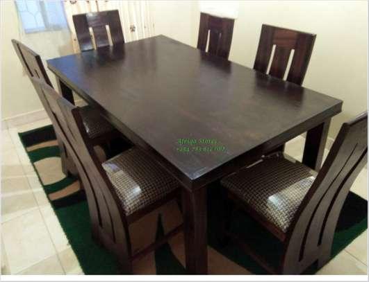 Mahogany dining table image 7