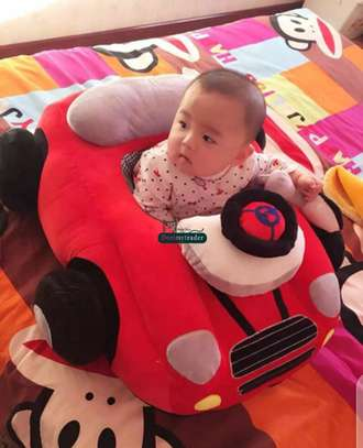 baby Car Sitting Children's Sofa,Plush Baby Sitting Learning Kid's Chair Floor seat Infant positioner Anti-Fall and Rollover Children's Furniture for Kids 3-18 Months image 4