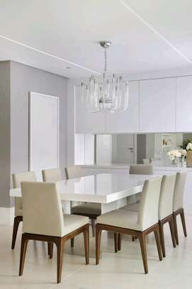 Best eight seater wooden dining table designs for sale in Nairobi Kenya image 1