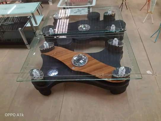 Glasstop coffee tables. image 3