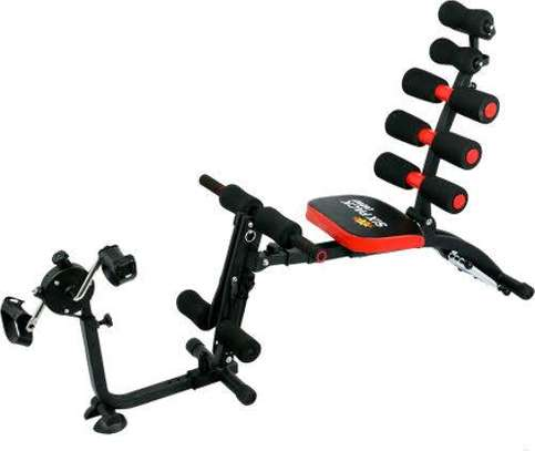Six pack care machine with cycling pedals