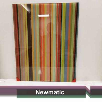 Newmatic Pinstripes Digital Print Splash back image 1