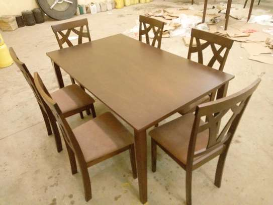 6seater wooden dining table
