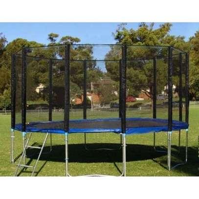 Brand new 16ft striker trampoline with enclosure.