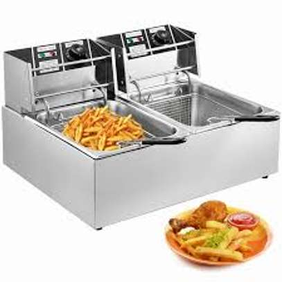 High quality, double basket electric deep fryers image 1