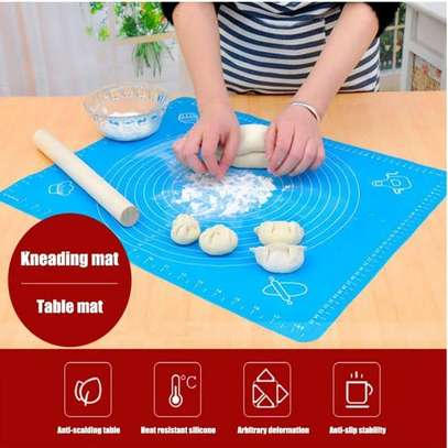 Silicone Baking Cake Dough Fondant Rolling Kneading Mat Scale Table Grill Pad image 2