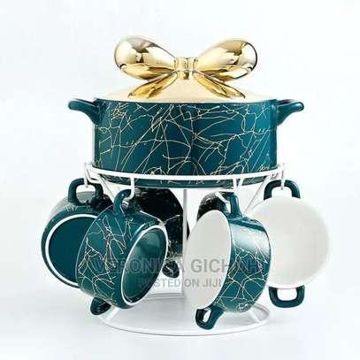Luxurious Marble Soup Bowl Set image 2