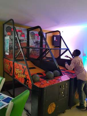 Electric basketball hoop for hire