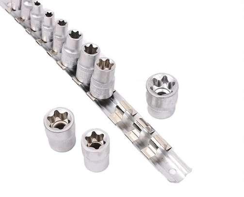 11 PCS E-Type Star Socket Torx Set E4 to E20 image 1