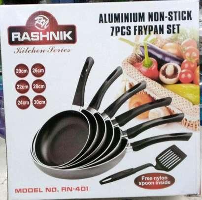 7pcs aluminium non stick rashnik flypan set image 1