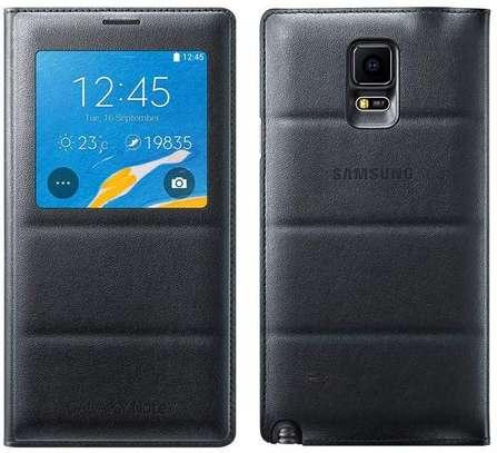 Smart S View Flip Cover Folio Case with Sensor - Samsung  Note 4 Case image 2