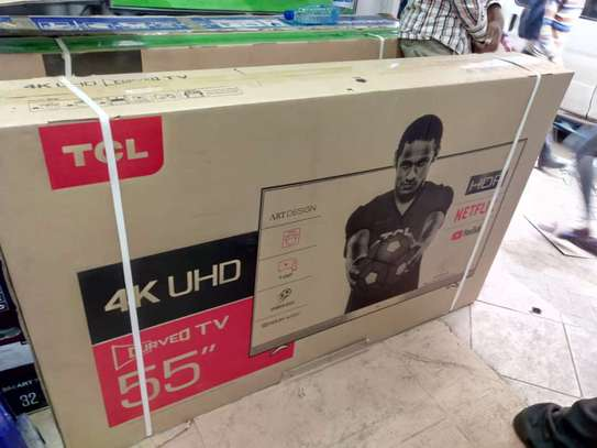 55 inches  Tcl smart TV curved