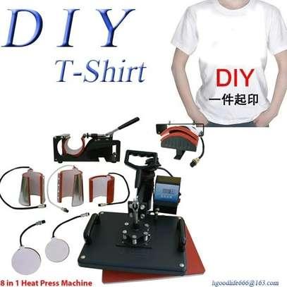 "Multi-function Heat Press Machine 12"" x 15"" T-Shirts Cap Mug plate fabrics image 1"