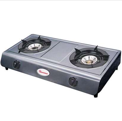 Ramtons Double Burner Gas Cooker - Silver image 4