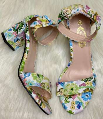 Floral Chunky heels image 2