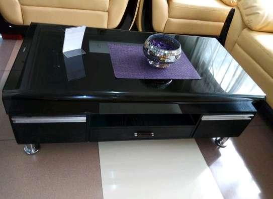 Hard glass coffee table image 1
