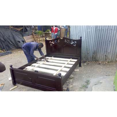 Hardwood Bed image 1