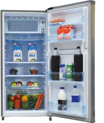 Mika Refrigerator, 190L, Direct Cool, Single Door, Hairline Silver image 2