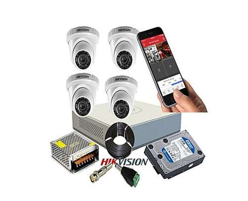 Hikvision 720P 4 Channel Turbo HD CCTV Cameras Kit W/500GB Hard Drive