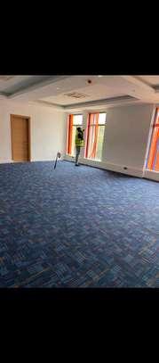 wall to wall blue carpet, carpet tiles image 1