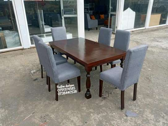 Grey six seater dining table for sale in Nairobi Kenya/wooden dining sets for sale in Nairobi Kenya image 1