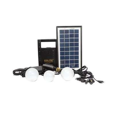 Solar Lighting System With FM Radio - Black image 1